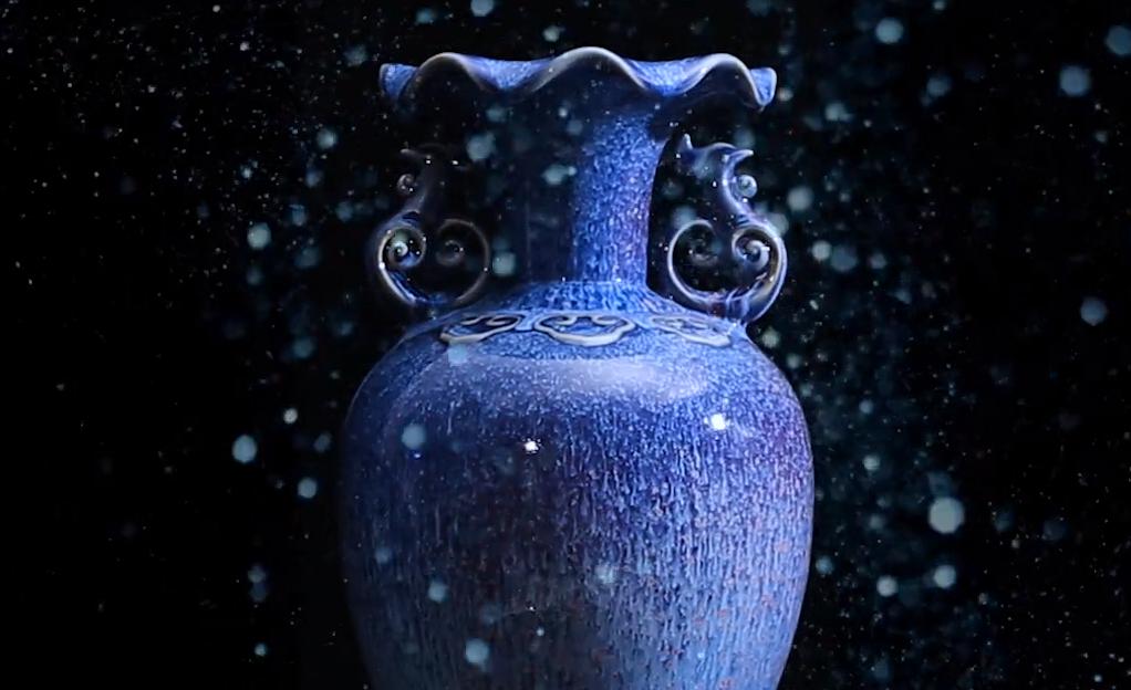 祥和樽蓝瓶成片